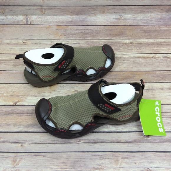 0cd37f012a35 NWT Crocs Swiftwater Mesh Sandal